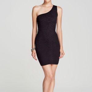 GUESS Snake Print Black Dress